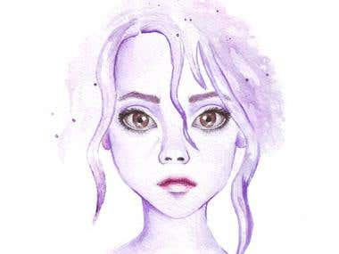 watercolor style