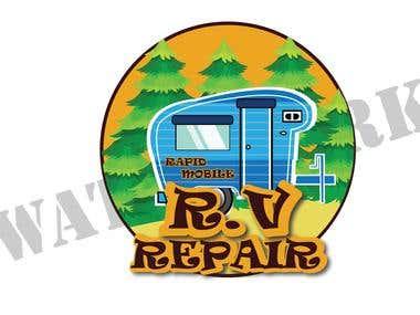 Mobile repair logo R.V
