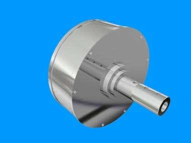 3D Solid Design of Turbine Generator