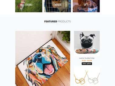 Pet store in wooCommerce Drop shipping website