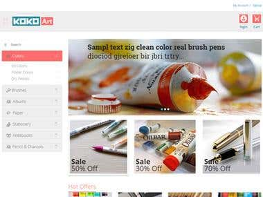 Online Shop for Stationary & Drawing Items