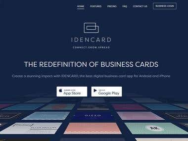 Large Scale App and Web Project IdenCard