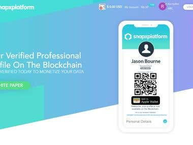 SnapX Platform based on Blockchain development