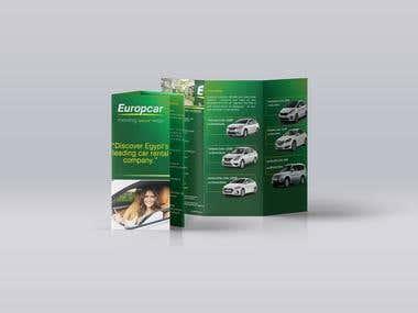 Europe car tri-Folded brochure