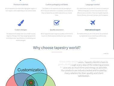 Wordpress Website For Client (Tapestry world)