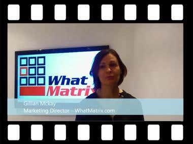 Testimonial from Gillian Mckay - WhatMatrix