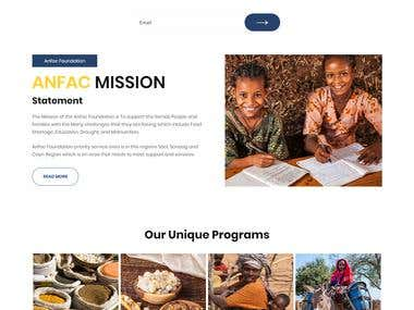 Charity based WordPress website