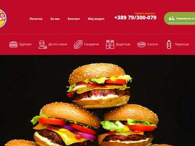 Memo Burger - Web Design