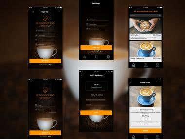 Development of mobile application design
