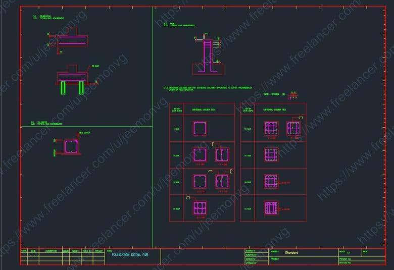 FOUNDATION DESIGN AND DETAILING | Freelancer