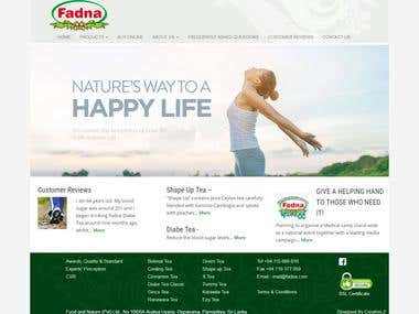 FADNA.com e-commerce website development