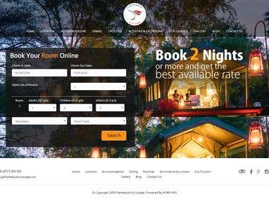 Flamebackecolodge.com Hotel Booking Engine and PMS