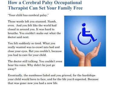 Blog Article - Occupational Therapist