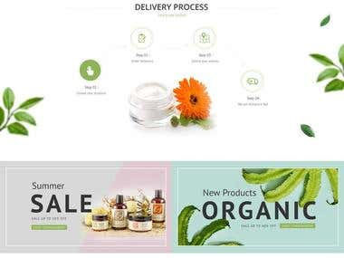 Cosmetics Website template