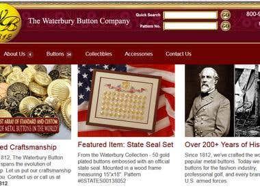 Waterbury Button Website