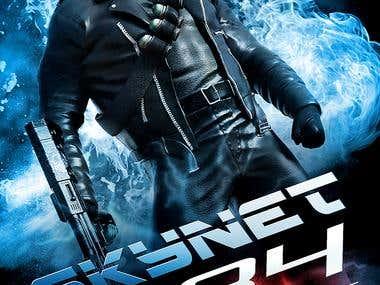Movie Poster - SKYNET - Terminal Reset - Blue Color