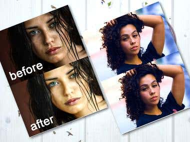 Removal of Facial Blemishes and unwanted objects.