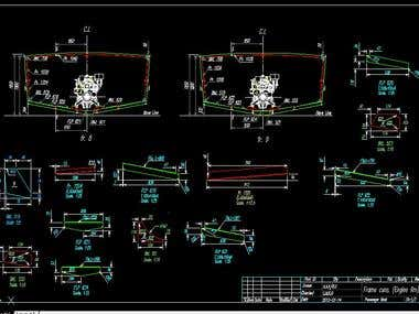 2D CAD Drawing,(Basic and working Engineering drawing)
