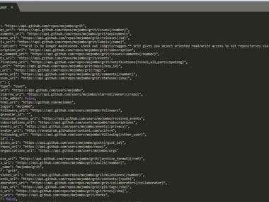 Github repository search via its API