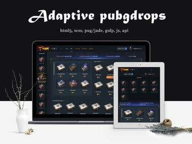 Adaptive layout pubgdrops.com (CSS3, HTML5 + JavaScript)