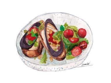 food illustrations - editorial illustrations