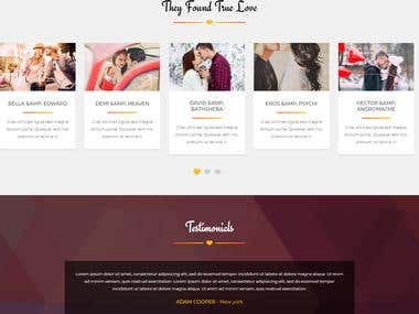 HTML, CSS Design for Dating Website
