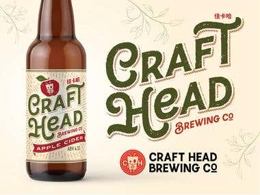Craft Head Brewing Co. Branding & Packaging