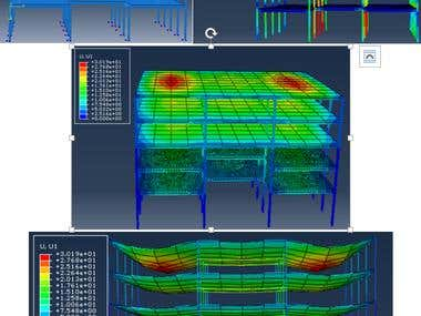 Steel-framed RC structure analysis using ABAQUS
