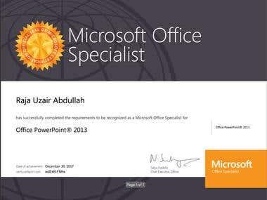 Microsoft Office Specialist PowerPoint 2013