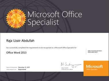 Microsoft Office Specialist Word 2013