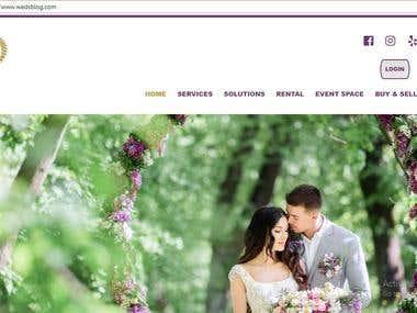 Event Rental , & dress order Website platform + Blog