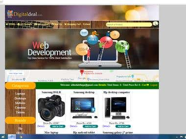 E-commerce website with php and mysql