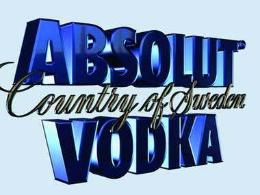 Absolut 3D logo for S3D ad