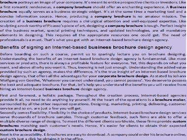 Business brochure guideline