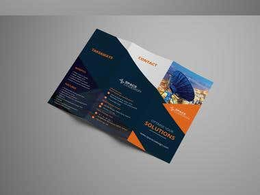 Trifold Brochure For Space Company