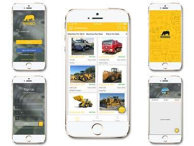Rhino Machinery Rental (Android And iPhone App)