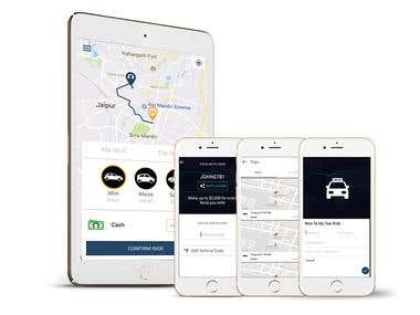 Taxi booking application for Drivers & Customers
