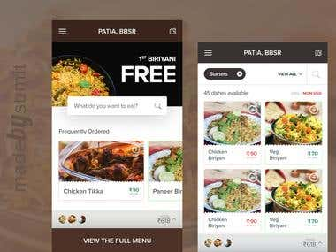 FOOD APP UI/UX redesign