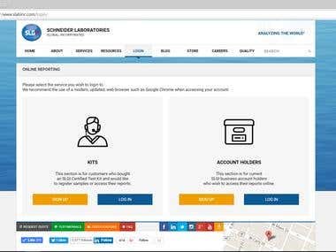 Schneider Labs Website | Online Reporting Tool