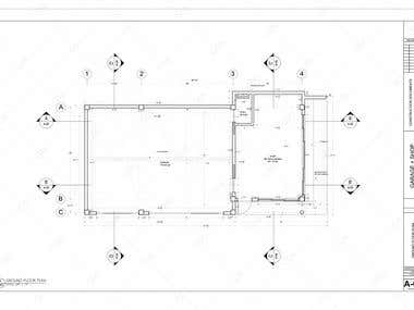Garage drawings design