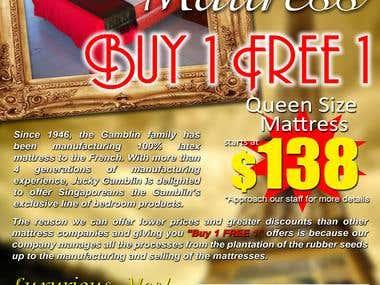 Print Ad for Latex Mattress
