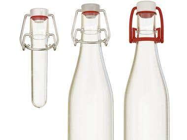 bottles with bottle stopper