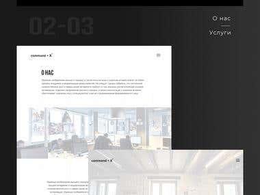Command+X studio's website