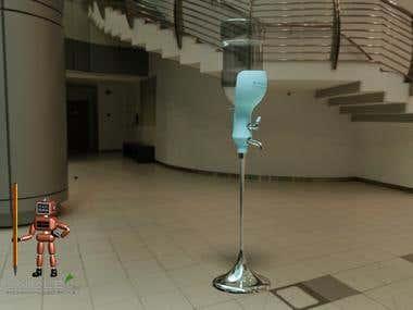 Water bottle emptier