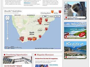 ShowMe.co.za Web Development