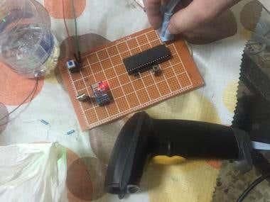 Custom QR code Scanner with AVR & WiFi