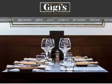 Restaurant website.