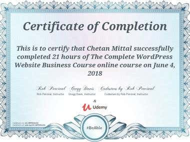 my certification