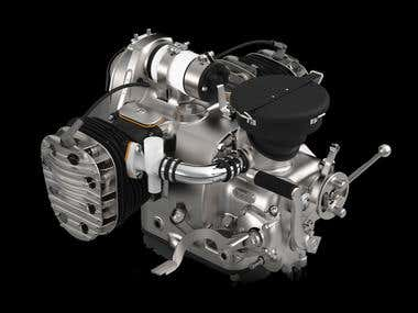Engine Design & Render