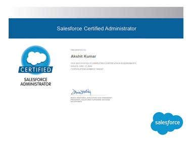 I am Certified Salesforce Administrator.